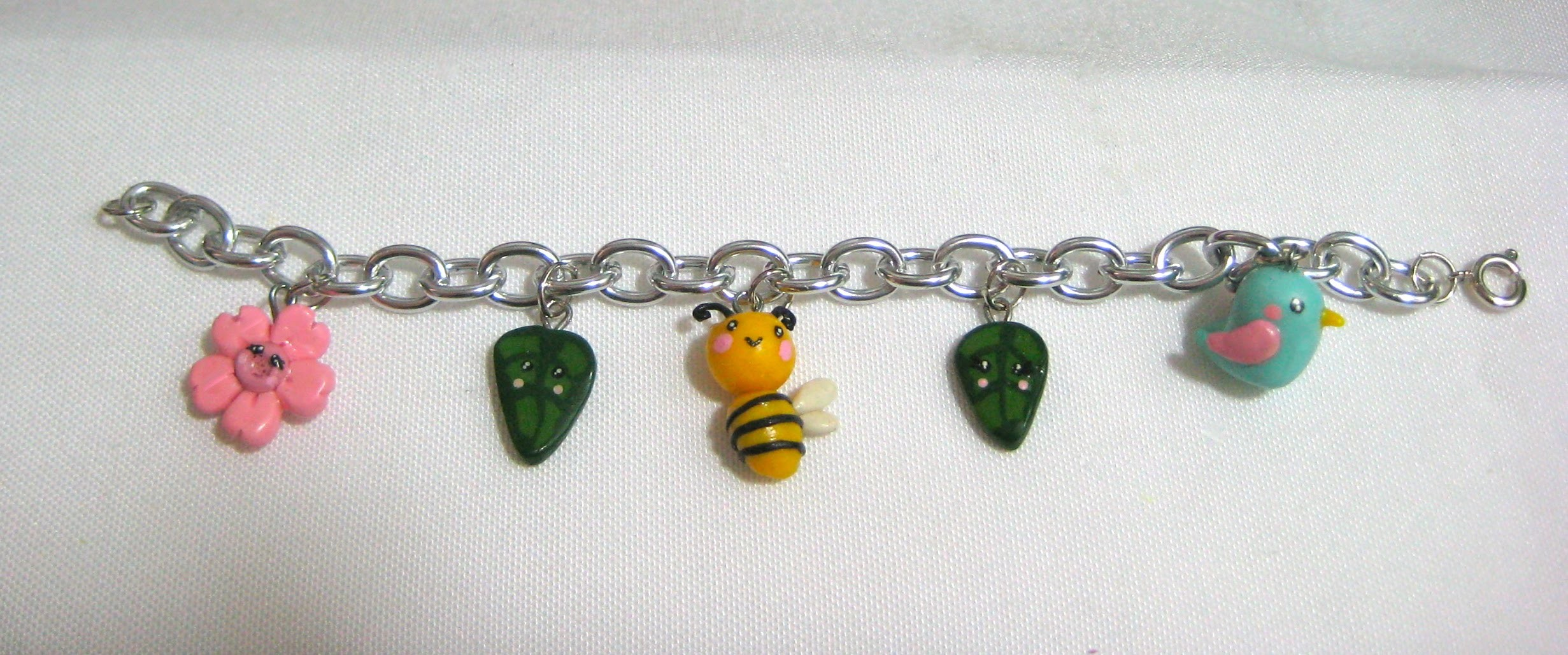 Teeny Baby Bee, Bird & Flower - Miniature Polymer Clay