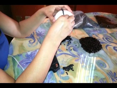 Youtube: manualidades con unicel y semillas