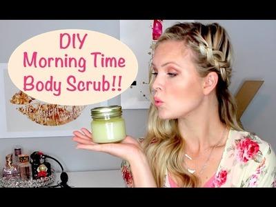 DIY Morning Time Body Scrub using Essential Oils!!