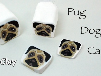 How to make a millefiori cane Pug Dog - Polymer clay tutorial