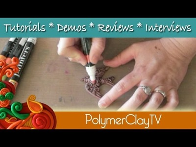 How to use Resin Adornments Embellishments to make polymer clay projects