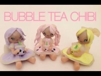 Polymer Clay Bubble Tea Girl Chibi Tutorial