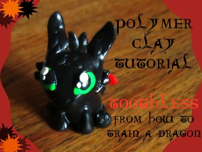 Polymer Clay tutorial Toothless from How to train a dragon