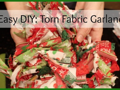 Super Easy DIY:Torn Fabric Garland