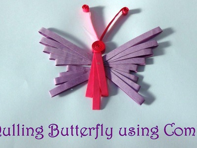 DIY: How to make Quilling Butterfly Using Combing Technique