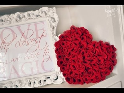 DIY -RED ROSE WALL DECORE