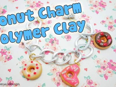 Donut Polymer Clay Charm Bracelet Tutorial - How To