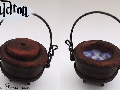 Easy Miniature Polymer Clay Witch's Cauldron Tutorial | Maive Ferrando