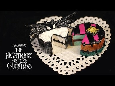 HOW TO: JACK & SALLY POLYMER CLAY CAKES - NIGHTMARE BEFORE CHRISTMAS