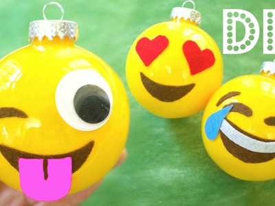 How to Make Christmas Ornaments: Emojis | DIY Christmas Decorations