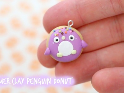 Polymer Clay Penguin Donut Tutorial