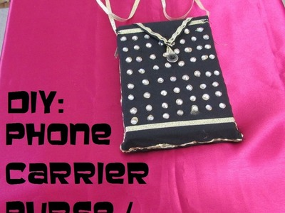DIY: DESIGNER PURSE. CELL PHONE CARRIER PURSE. COVER.