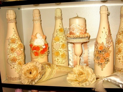 Champagne bottle decorations for weddings. Many weddings ideas