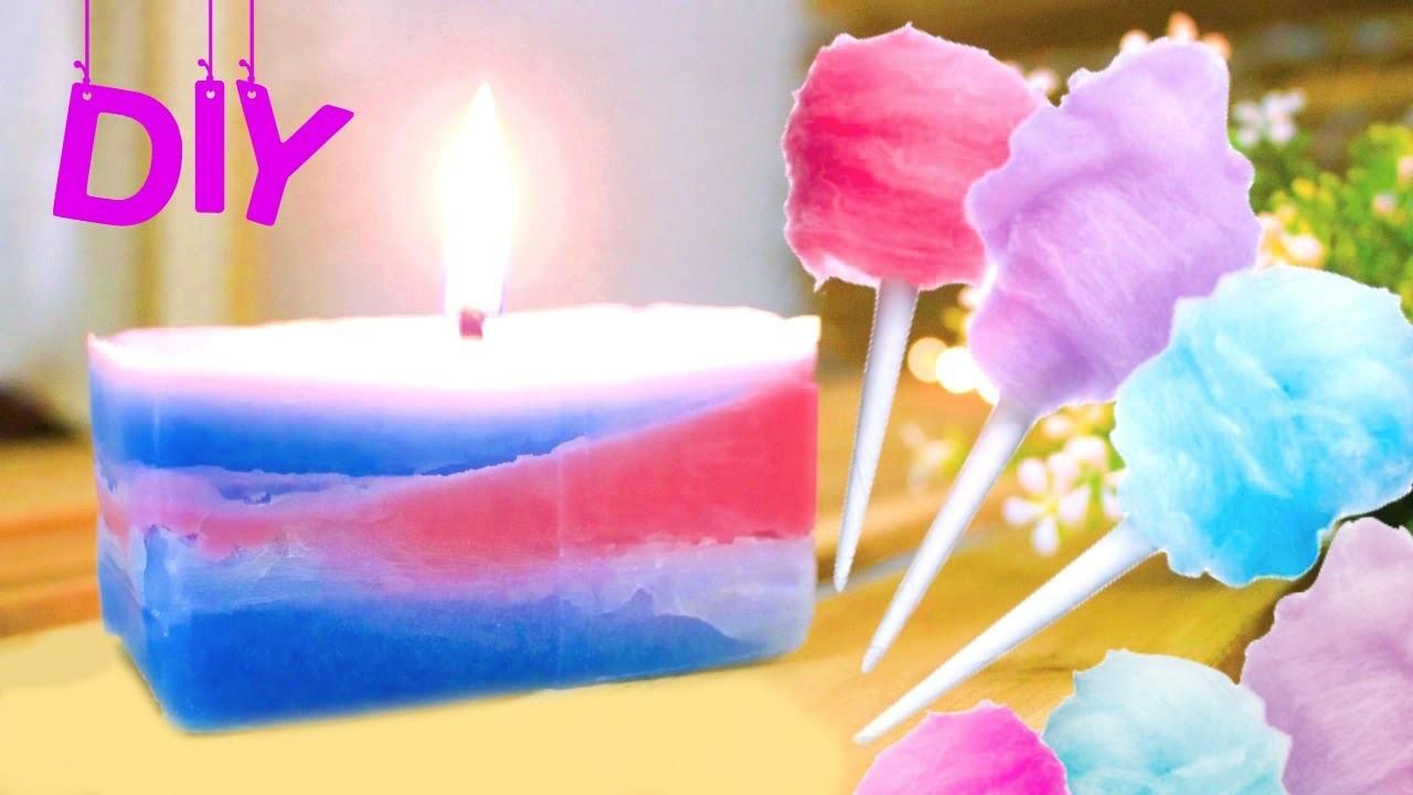 DIY Cotton Candy Candle | DIY Fall Room Decor