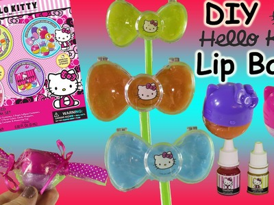 DIY Hello Kitty Lip Balm Kit! Mix & Decorate your own Lip Balm Containers! FUN