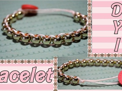 DIY : rose gold bracelet