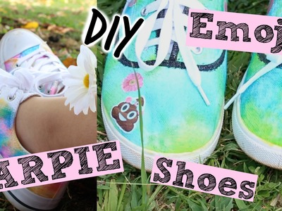 DIY Sharpie & Emoji shoes