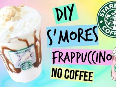 DIY Starbucks S'mores Frappuccino (No coffee version.)