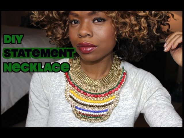 DIY Statement Necklace | MariaAntoinetteTV