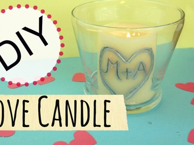 DIY Valentine's Day Candle (Cheap & Easy DIY) | Michele Baratta