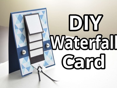 DIY Waterfall Card ~ 700 Subscriber Milestone Video
