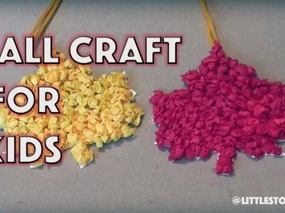 Fall Craft for Kids - Autumn Leaves - LittleStoryBug