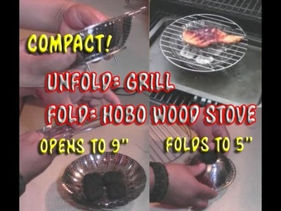 Folding Pocket Grill DIY Made From A Veggie Steamer.