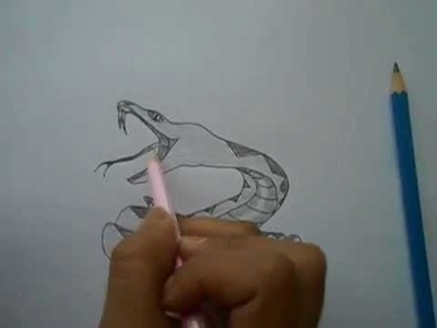 How to draw a snake easy step by step drawing for kids and beginners