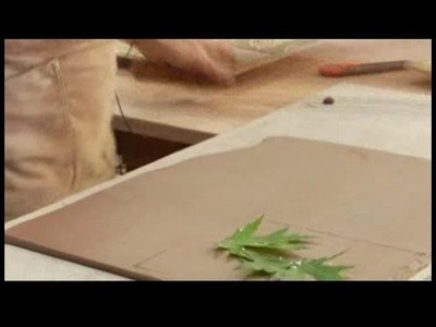 How to Make a Clay Planter : Making Leaf Clay Impressions