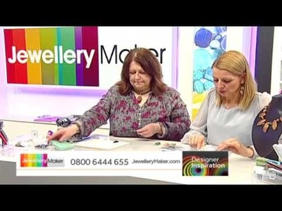 JewelleryMaker Designer Inspiration LIVE 07.01.14 - [Learn how to make Polymer Clay Pendants]