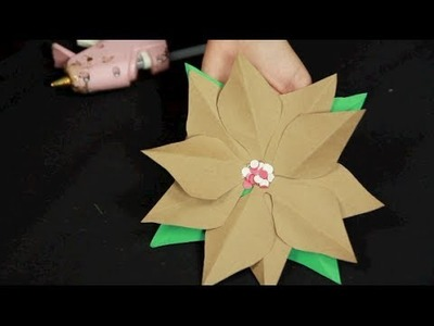 Paper Poinsettia Tutorial with Ruffles and Rouge