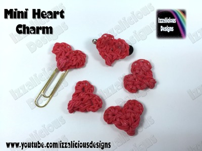 Rainbow Loom Mini Heart Charm (Valentine) - 32 bands required