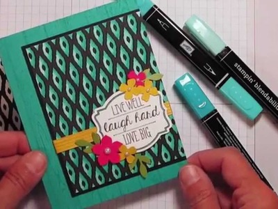Stampin' Up! Blendabilites and Designer Series paper~ change is good!