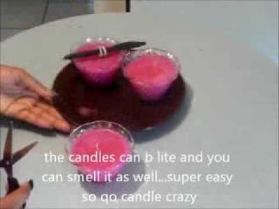 D.I.Y. Candles w Crisco
