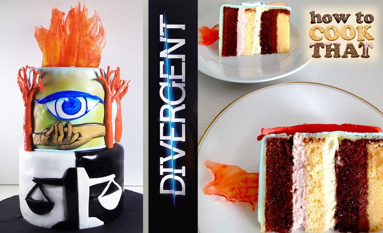 Divergent Cake HOW TO COOK THAT Ann Reardon Divergent Insurgent Movie Book Cake