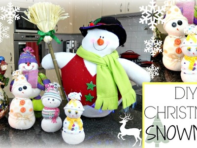 ❄ DIY | Christmas Sock Snowman ❄ - Bellafloresa
