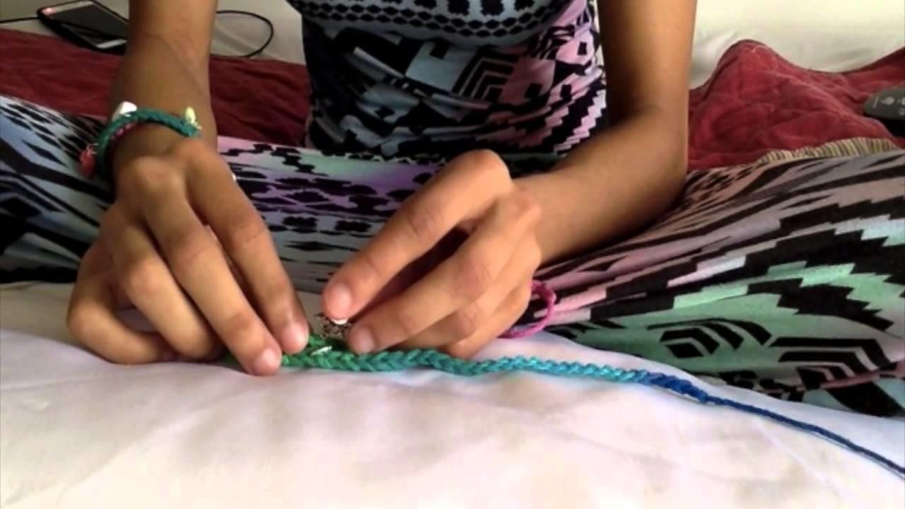 DIY crochet charm bracelet