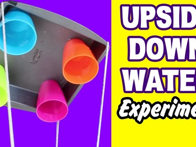 DIY Easy Science Experiment | Amazing Science Experiments | Upside Down Water Experiment
