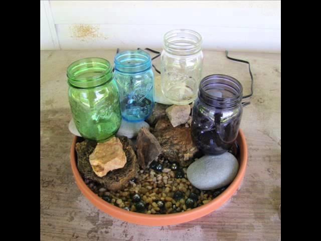 DIY Mason Jar Water Garden Fountain - For Patio, Pond, or Garden