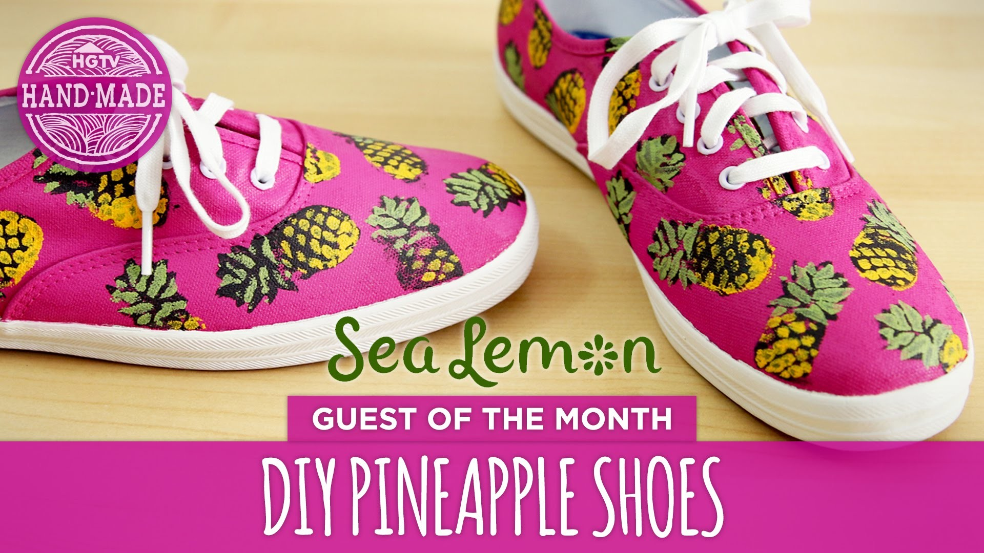 DIY Pineapple Shoes by Sea Lemon - White Shoes Challenge Week - HGTV Handmade