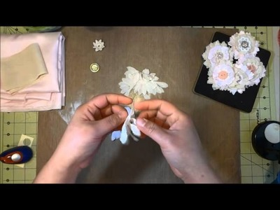 DIY Shabby Chic Flower using Tim Holtz die cut