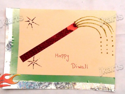 DIY Simple Diwali Greeting Card (School Project for Kids) - JK Arts 161