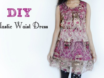 DIY Simple Elastic Waist Dress (Hippie Inspired)