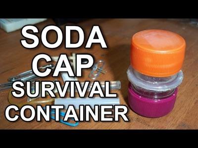 DIY - Soda Cap Survival Container