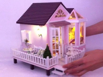 DIY Wooden Dollhouse of Sweet Home, at www.LAminiWorld.com