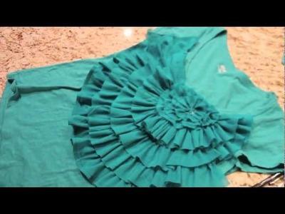 Flower Front Embellished T Shirt Tutorial