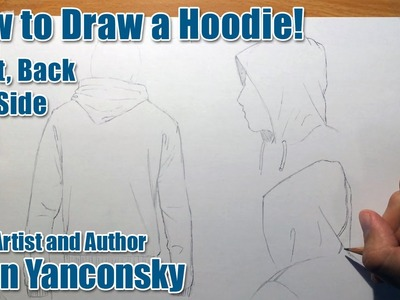How to Draw a Hoodie: Back and Side View!