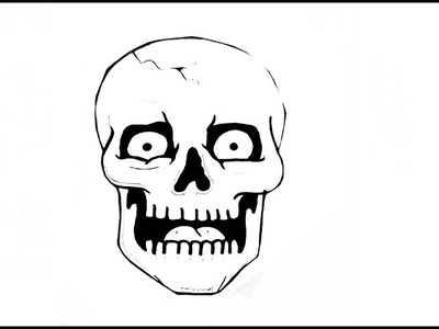 How To Draw A SKULL.