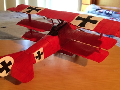 How to make The Red Baron (Fokker Dr. 1 Triplane) Paper Model Tutorial
