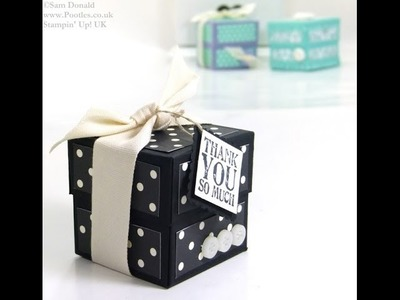 Lidded Cube Box Tutorial by Stampin' Up! UK Independent Demonstrator Pootles